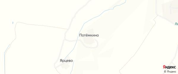 Карта деревни Потемкино в Ивановской области с улицами и номерами домов