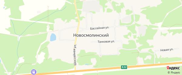 Территория Садовый массив Южный на карте Новосмолинского поселка Нижегородской области с номерами домов