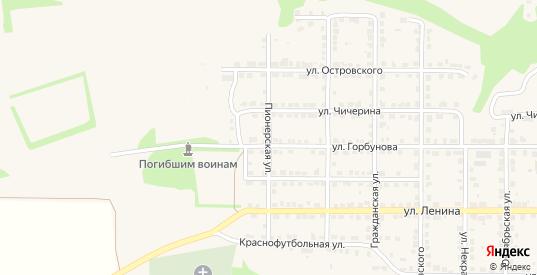 Пионерская улица в Горбатове с номерами домов на карте. Спутник и схема онлайн