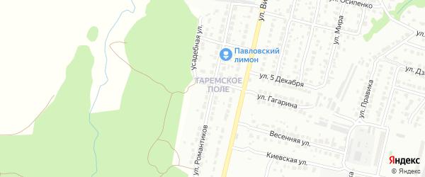 Улица Романтиков на карте Павлово с номерами домов
