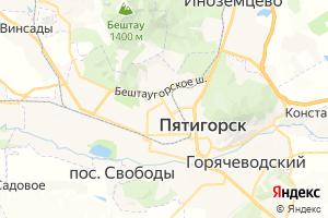 Карта г. Пятигорск Ставропольский край