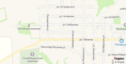 Улица Базановой в Горбатове с номерами домов на карте. Спутник и схема онлайн