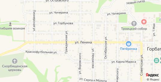 Улица Воровского в Горбатове с номерами домов на карте. Спутник и схема онлайн