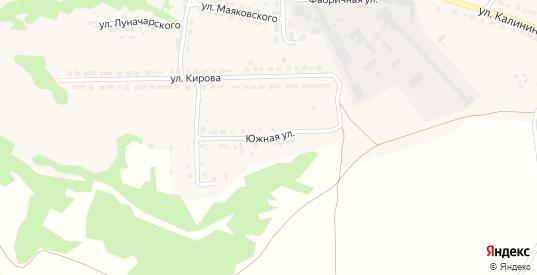 Южная улица в Горбатове с номерами домов на карте. Спутник и схема онлайн