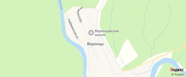 Карта поселка Воронцы в Архангельской области с улицами и номерами домов