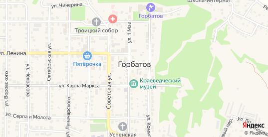 Улица Л.Толстого в Горбатове с номерами домов на карте. Спутник и схема онлайн