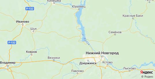 Карта Чкаловского района Нижегородской области с городами и населенными пунктами