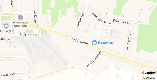 Улица Калинина в Горбатове с номерами домов на карте. Спутник и схема онлайн