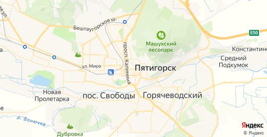 Карта Пятигорска с улицами и домами подробная. Показать со спутника номера домов онлайн