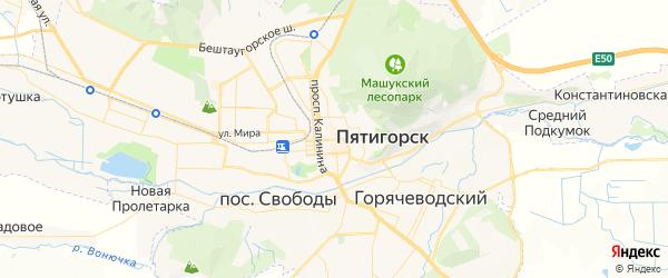 Карта Пятигорска с районами, улицами и номерами домов