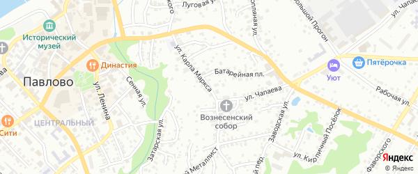 Улица Карла Маркса на карте Павлово с номерами домов