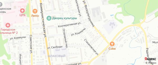 Стахановская улица на карте Павлово с номерами домов