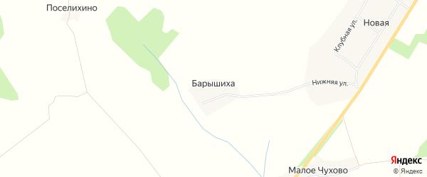 Карта деревни Барышиха в Нижегородской области с улицами и номерами домов