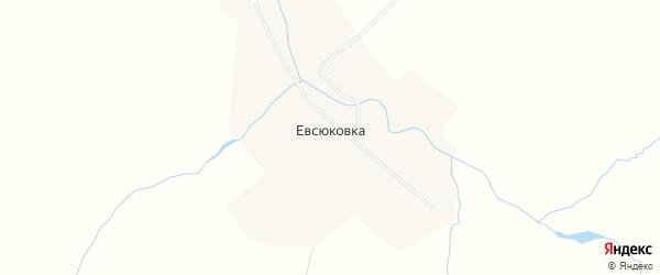 Карта села Евсюковки в Саратовской области с улицами и номерами домов