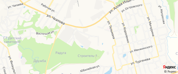 ГСК Гаражный блок 73 на карте Павлово с номерами домов