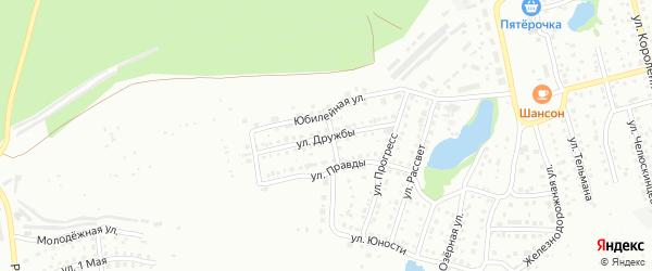 Улица Дружбы на карте Павлово с номерами домов