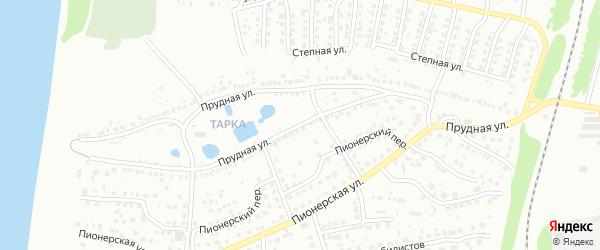 Прудная улица на карте Павлово с номерами домов