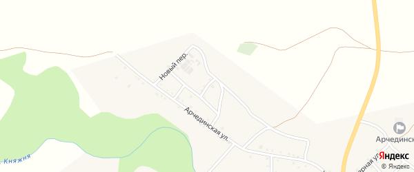 Арчединский переулок на карте Арчединской станицы Волгоградской области с номерами домов