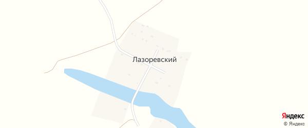Школьная улица на карте Лазоревского хутора Волгоградской области с номерами домов