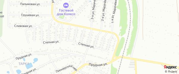 5-й Степной переулок на карте Павлово с номерами домов