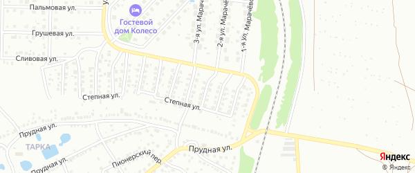 4-й Степной переулок на карте Павлово с номерами домов