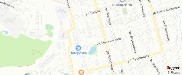 Улица Челюскинцев на карте Павлово с номерами домов