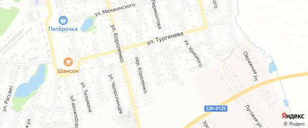 Переулок Лермонтова на карте Павлово с номерами домов
