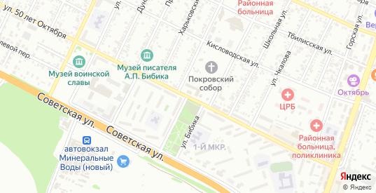 Улица 50 лет Октября в Минеральных Водах с номерами домов на карте. Спутник и схема онлайн