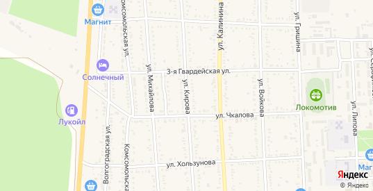 Улица Кирова в Котельниково с номерами домов на карте. Спутник и схема онлайн