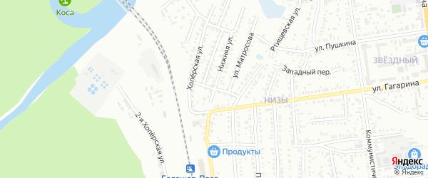 Переулок Матросова на карте Балашова с номерами домов