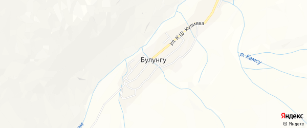 Карта села Булунгу в Кабардино-Балкарии с улицами и номерами домов
