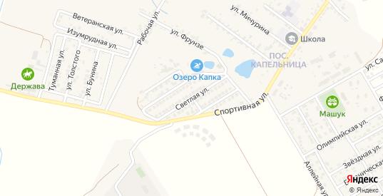 Светлая улица в жилом районе Капельница в Железноводске с номерами домов на карте. Спутник и схема онлайн