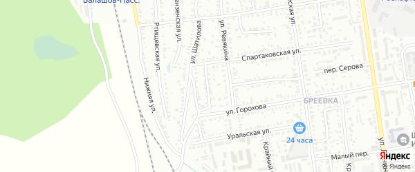Уральский переулок на карте Балашова с номерами домов