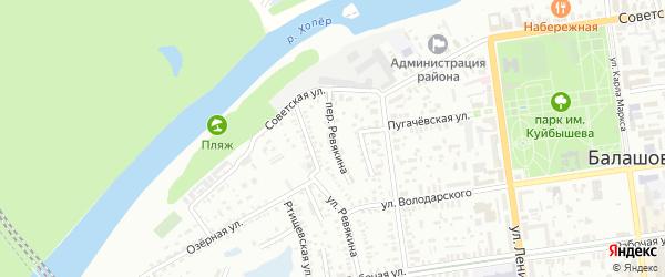 Переулок Ревякина на карте Балашова с номерами домов