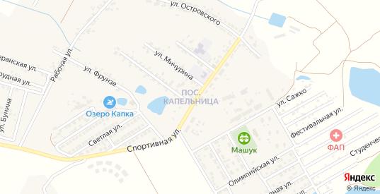 Улица Пастухова в жилом районе Капельница в Железноводске с номерами домов на карте. Спутник и схема онлайн