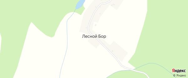 Красная улица на карте деревни Лесного Бора Мордовии с номерами домов