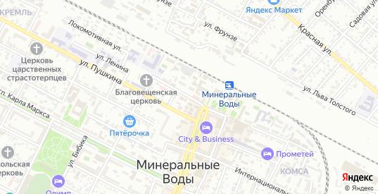 Улица Ленина в Минеральных Водах с номерами домов на карте. Спутник и схема онлайн