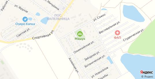 Южная улица в жилом районе Капельница в Железноводске с номерами домов на карте. Спутник и схема онлайн