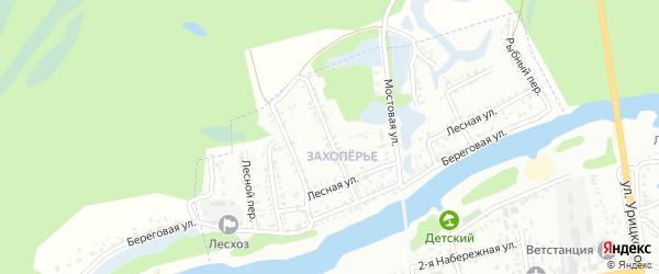Моховой переулок на карте Балашова с номерами домов