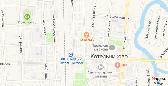 Улица Победы в Котельниково с номерами домов на карте. Спутник и схема онлайн