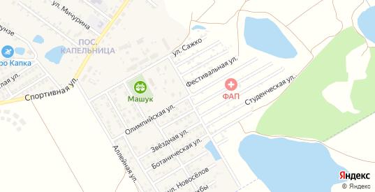 Улица Зори Машука в жилом районе Капельница в Железноводске с номерами домов на карте. Спутник и схема онлайн