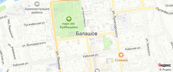 Территория Мясокомбината на карте Балашова с номерами домов