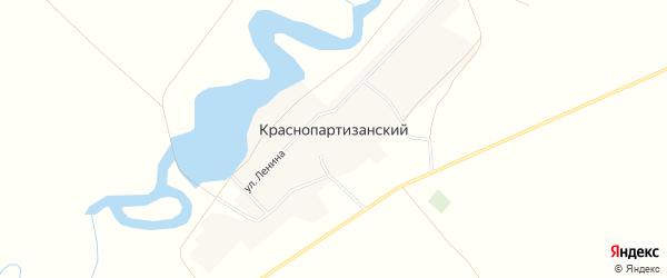 Карта Краснопартизанского поселка в Ростовской области с улицами и номерами домов