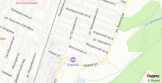 Машукский проезд в Минеральных Водах с номерами домов на карте. Спутник и схема онлайн