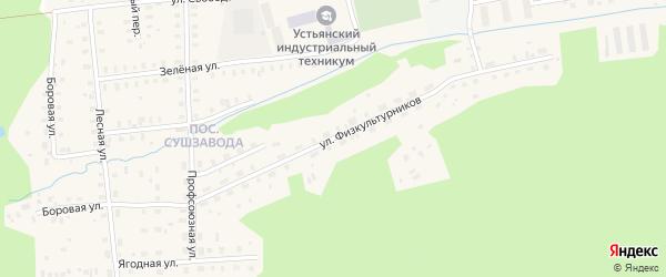 Улица Физкультурников на карте Октябрьского поселка с номерами домов