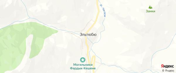 Карта села Эльтюбю в Кабардино-Балкарии с улицами и номерами домов