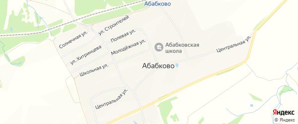 Карта села Абабково в Нижегородской области с улицами и номерами домов