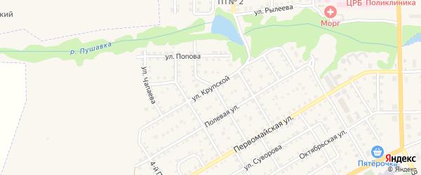 Улица Крупской на карте Пучежа с номерами домов