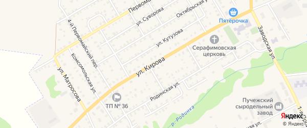 Улица Кирова на карте Пучежа с номерами домов