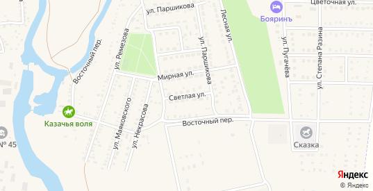 Светлая улица в Котельниково с номерами домов на карте. Спутник и схема онлайн